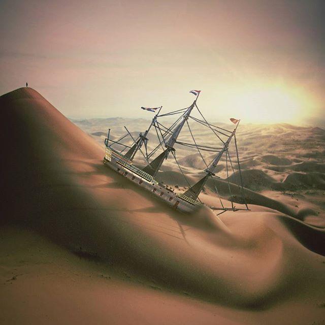 °Ararat° 🌟PHOTO EDIT CHALLENGE 🌟 @surreal42 . #surreal42 #surrealedit42_112 . Boat Op by @jelena.mishiba . . Desert Op from @unsplash . #unsplash  #tiltedvision  #masters_of_darkness  #lightedlight  #fx_hdr  #elite_editz #d_expo #thegraphicspr0ject  #photocandy #ig_masterpiece #creartmood