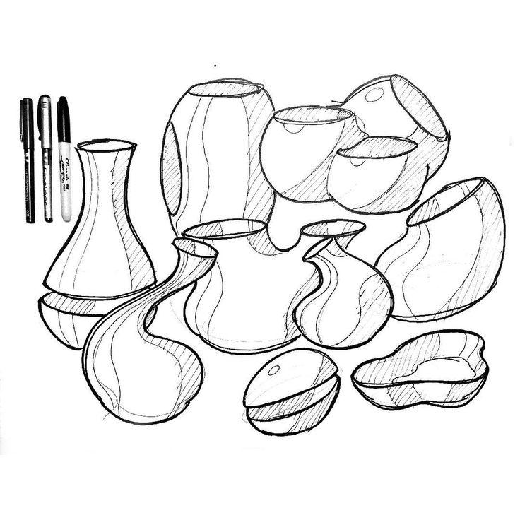 Warmup jugs by Robin Stethem of STETHEM.COM #designsketching #idsketching #industrialdesign #design #sketch #sketching #sketchbook #productdesign #process #sketchaday #id #concept #conceptdesign #productdesigner #industrialdesigner #project #designwork #designlife