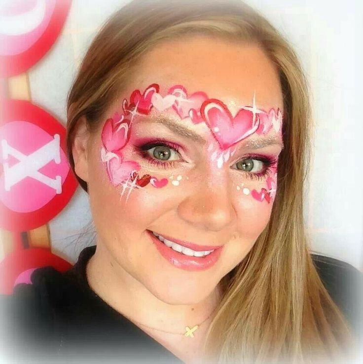 Lisa Joy Young Valentine's face painting idea.