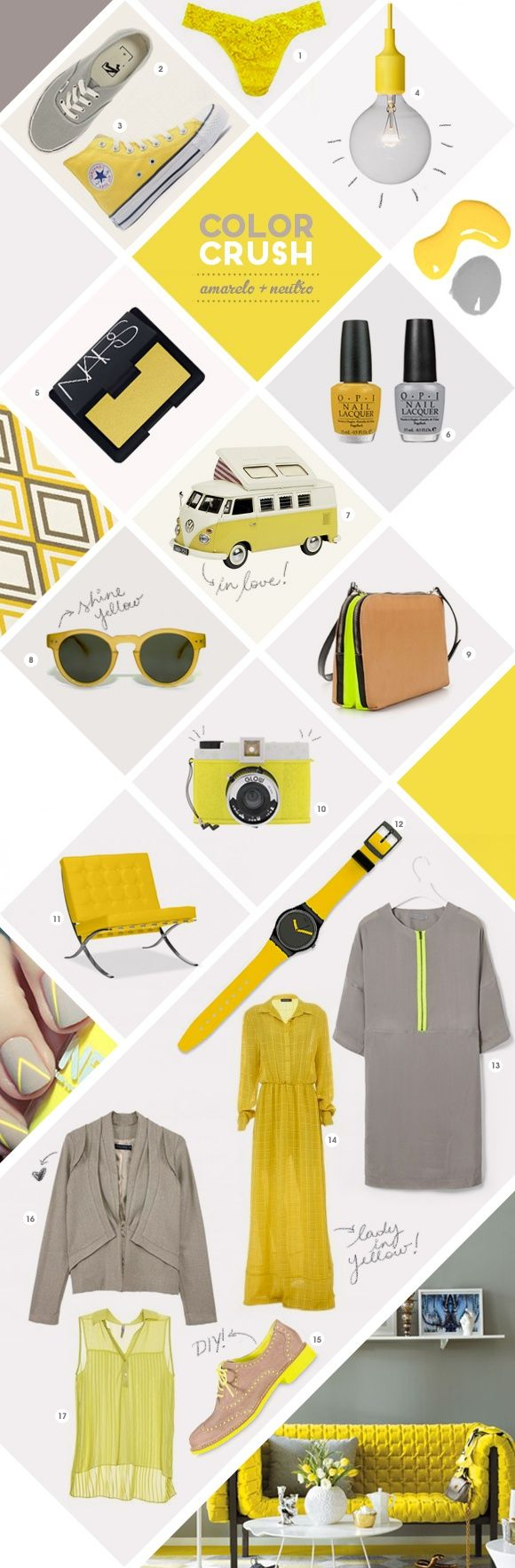 This example uses a uniform color- yellow. This can be a good concept for some of the spreads as it is visually appealing.