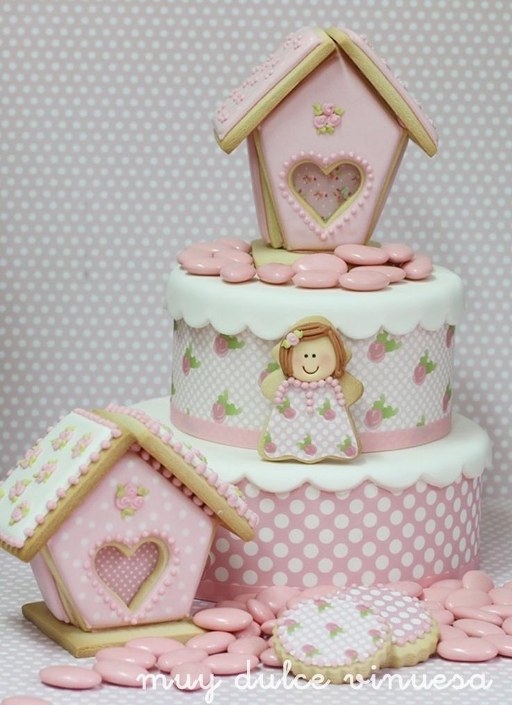 """"""" MUY DULCE """" MARIAPI Y MERCEDES GARCIA DE VINUESA GALLETAS DECORADAS: Casitas de galletas decoradas !!!!"""