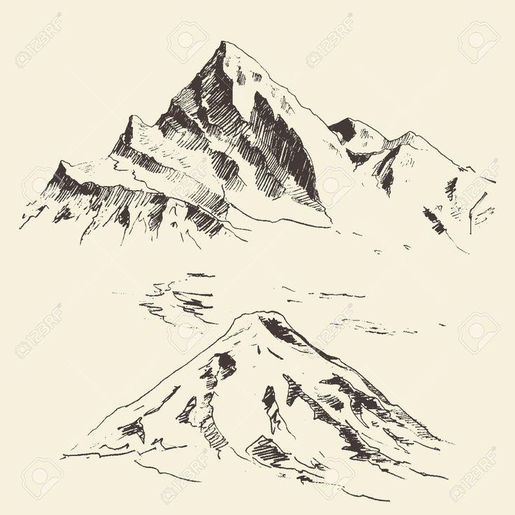 mountains sketch - Поиск в Google