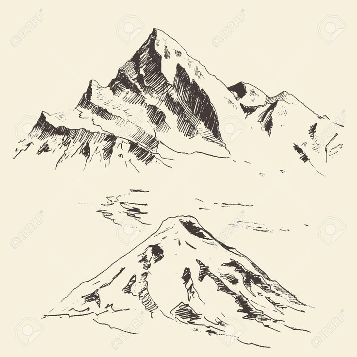 mountains sketch - Поиск в Google