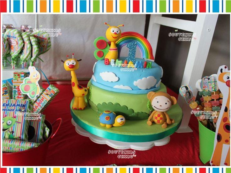 Torta decorada Baby Tv, Candy Bar Baby Tv. Golosinas personalizadas. Decoración Baby Tv. www.facebook.com/souvenirs.chiru