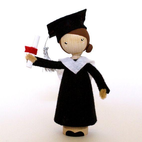 Custom Graduation Peg Doll / Large Waldorf by LandonsToyBox
