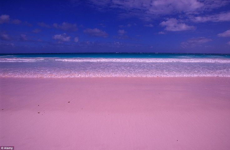 Harbour Islands in the Bahamas is famous for its pink sand beaches that stretch for several miles
