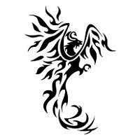 Tatuaggio di Fenice e V, Rinascita, sicurezza tattoo - custom tattoo designs on TattooTribes.com