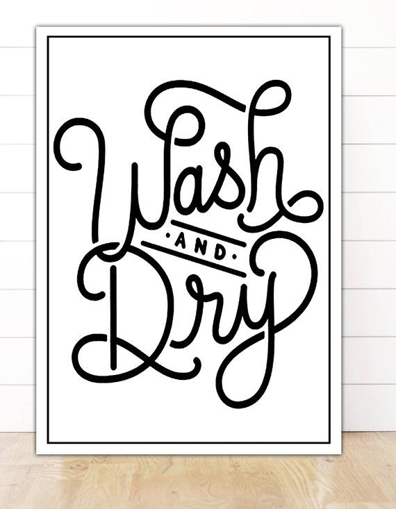 Wash Dry Sign Wash And Dry Laundry Room Decor Wash And Fold Etsy