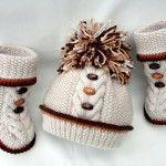 Şiş işi örgü ve şapka #crochet #knit #knitting #baby #hat