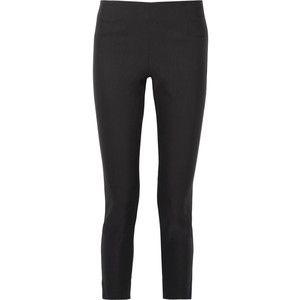 Lela Rose Stretch-twill skinny pants