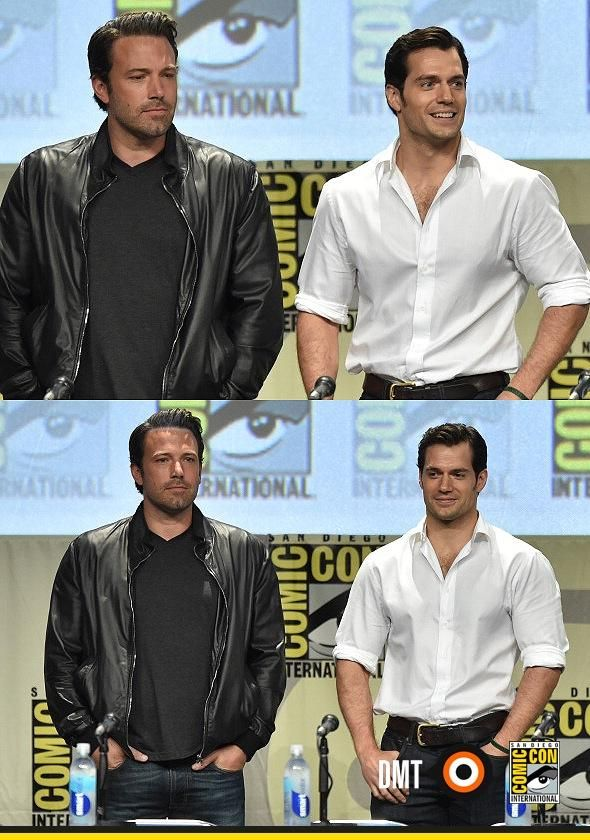 More hot photos of Batman & Superman at #SDCC via DammitComBR #HenryCavill #BatmanvSuperman #BenAffleck pic.twitter.com/h2uqmloFWz