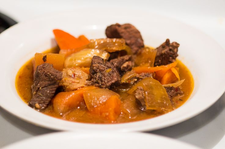 How to Cook Chili Miso Beef Stew in a Slow Cooker.