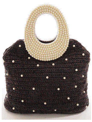 pearl handle crochet bag
