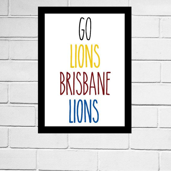 Brisbane Lions - AFL club song print - Digital Download - All AFL clubs available