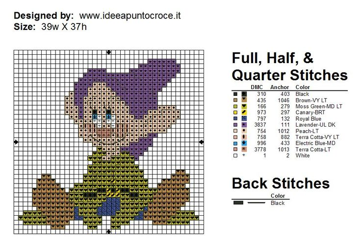 7 Dwarfs with color chart- part 7 of 7