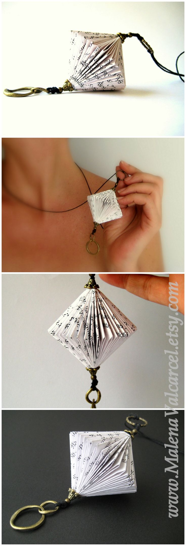 Not a tutorial but an interesting idea for paper jewelry. Paper Jewelry Bisutería de Papel