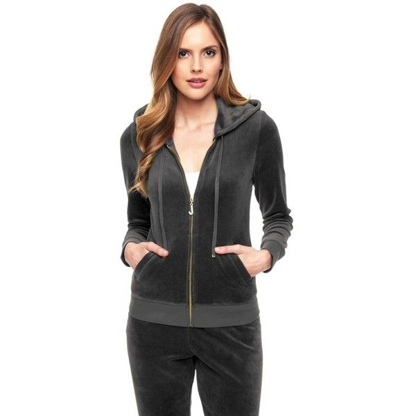 J Bling Original Velour Jacket | Juicy Couture ❤ liked on Polyvore featuring outerwear, jackets, velour jacket, juicy couture and juicy couture jacket