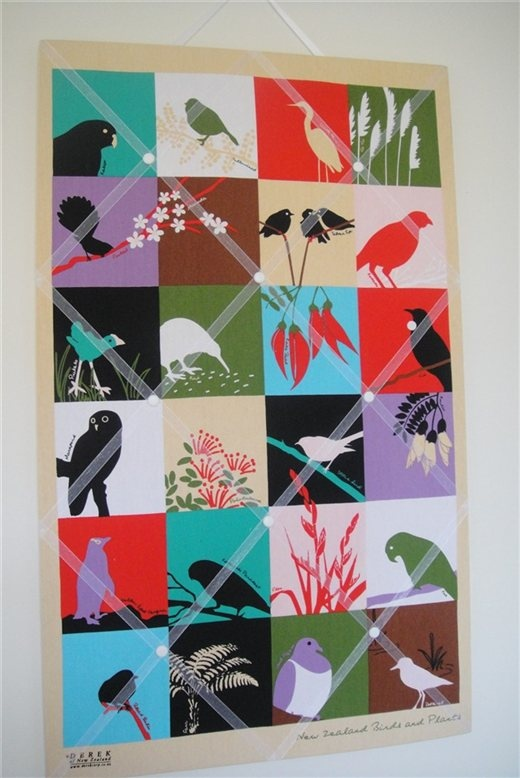 Chills Designs - Kiwiana Birds - Memo Board