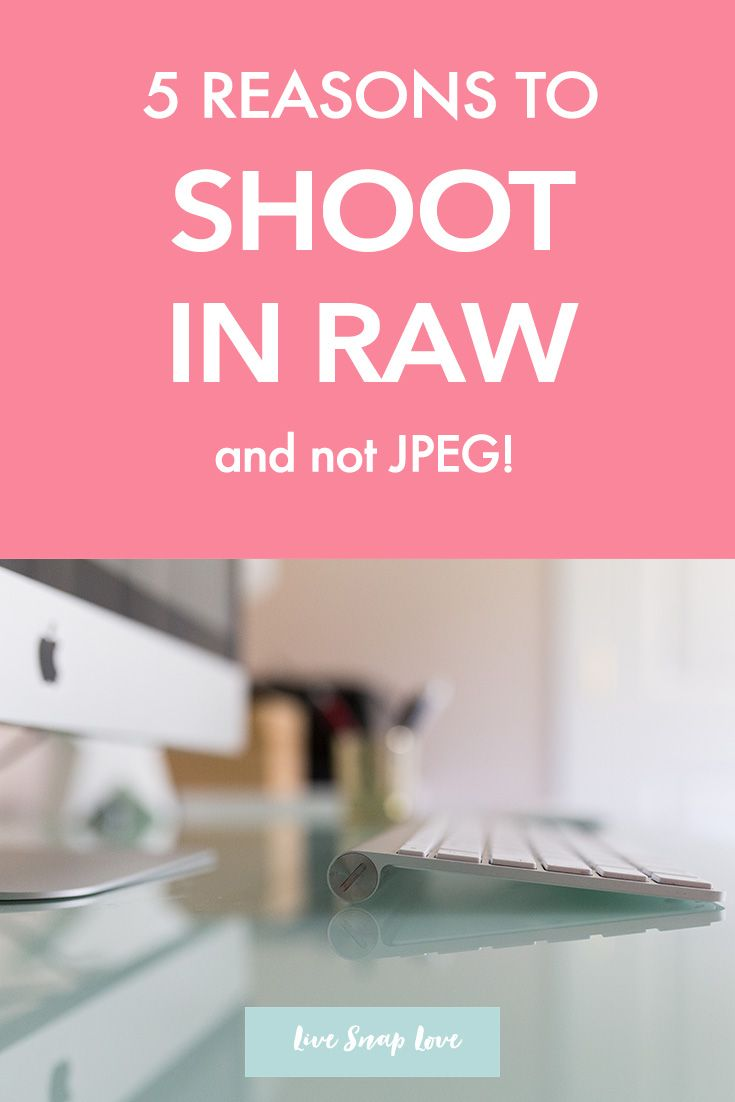 Here is 5 of the top reasons why switching to shooting in the RAW file format is such a good idea - especially if you are a new photographer! Click through to read all 5 reasons.