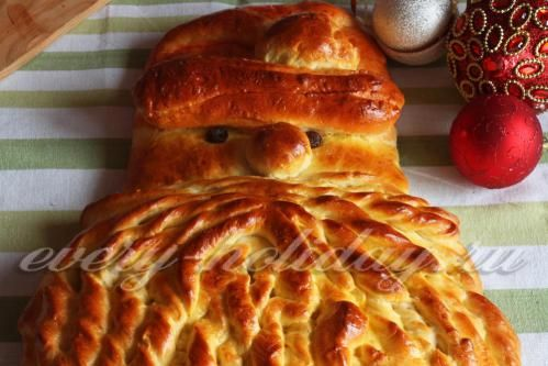 """Новогодний пирог """"Дед Мороз"""""""