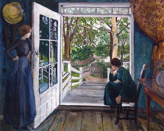Nikolai Astrup (1880-1928) By the open door