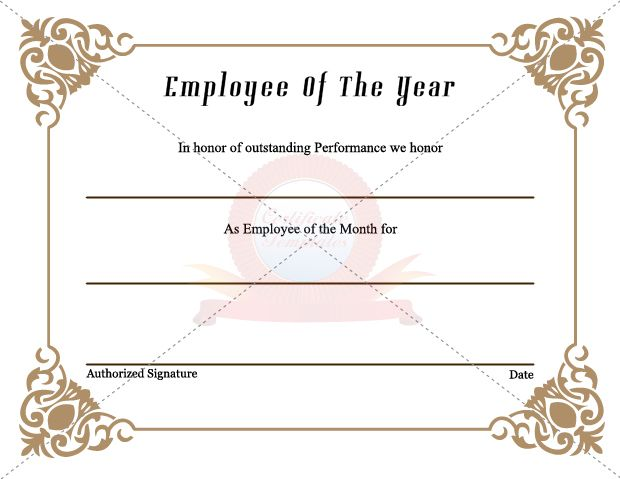 Best Employee Certificate Images On   Certificate