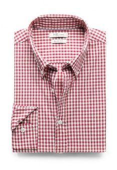 Рубашка Mango Man, цвет: красный. Артикул: HE002EMCXG74. Мужская одежда / Рубашки / Рубашки с длинным рукавом