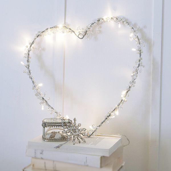 Stunning Large Christmas #Fairy Light Heart Wreath