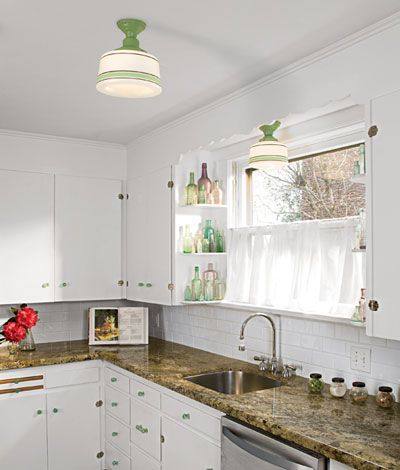 204 best 1940s home images on pinterest apartment renovation love the curved shelves and cafe curtain workwithnaturefo