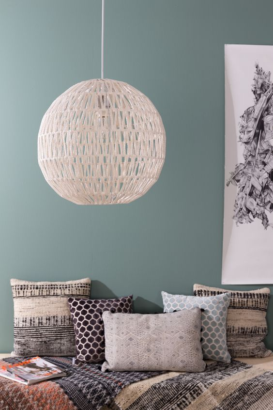 Zuiver Cable lamp. Lovely combination with the green grey colour.