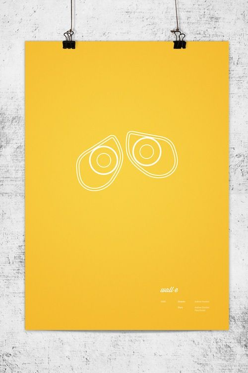 Minimalist posters of Pixar's animated films by Wonchan Lee.