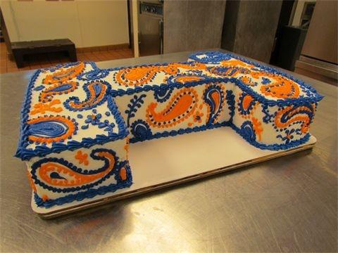 orange and blue university of illinois paisley i cake wedding cakes