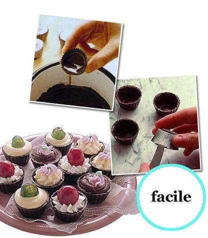 Bicchierini con mini cupcake