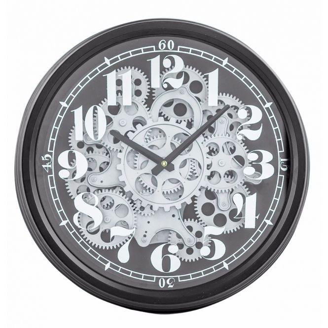 Moving Gears Wall Clock Black Silver Clock Gear Wall Clock Wall Clock