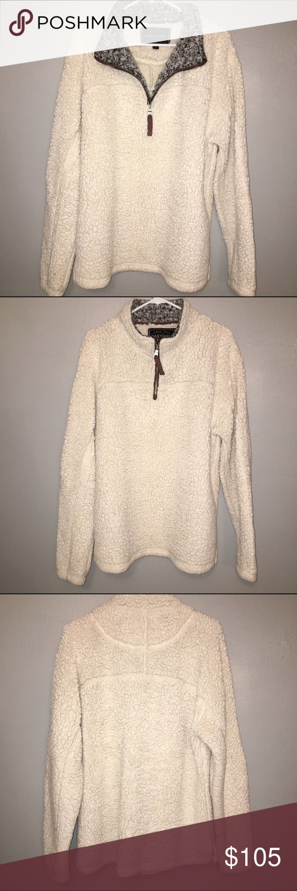 TRUE GRIT Limited Edition Pullover This winter white True Grit 1/4 Zip Pullover was limited edition and is no longer made! I've had it less than a year, and it is in perfect condition! You won't believe how soft it is! True Grit Jackets & Coats