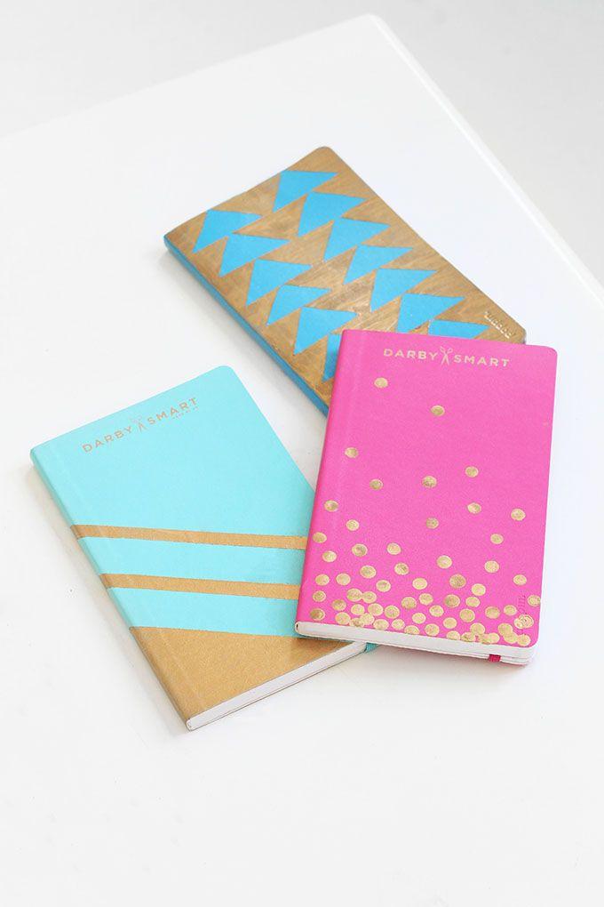 DIY Golf Leaf Notebooks Tutorial