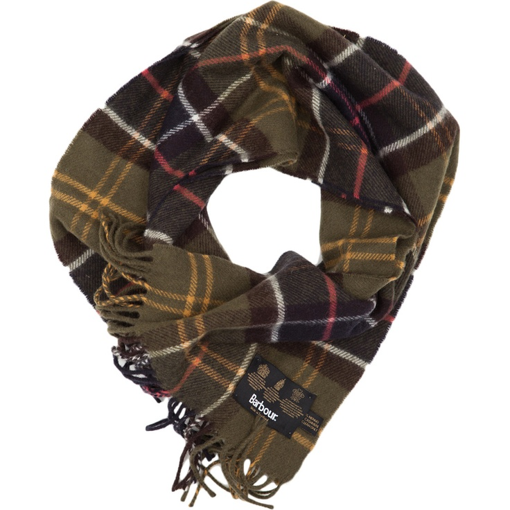 Barbour, scarf.