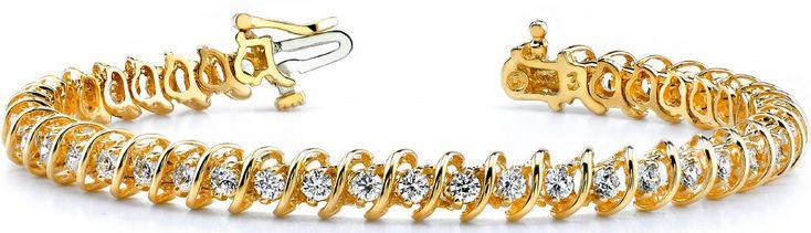 Diamant Armband mit 1.00 Karat Diamanten aus 585er Gold bei www.diamantring.be für nur 1995.00 Euro Versandkostenfrei bestellen.
