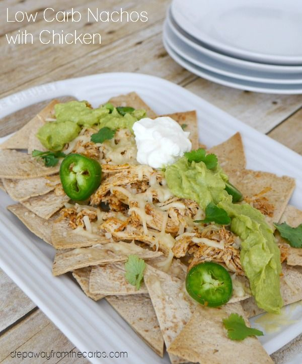 Low Carb Nachos with Chicken - serve as an appetizer or when entertaining!