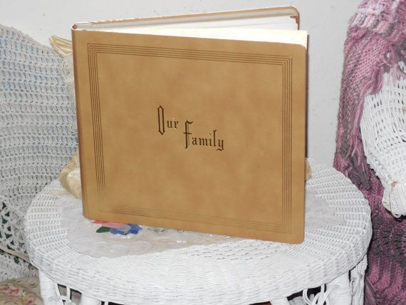 Our Family Photo Album 1960s Crown Albums by Daysgonebytreasures, $58.00