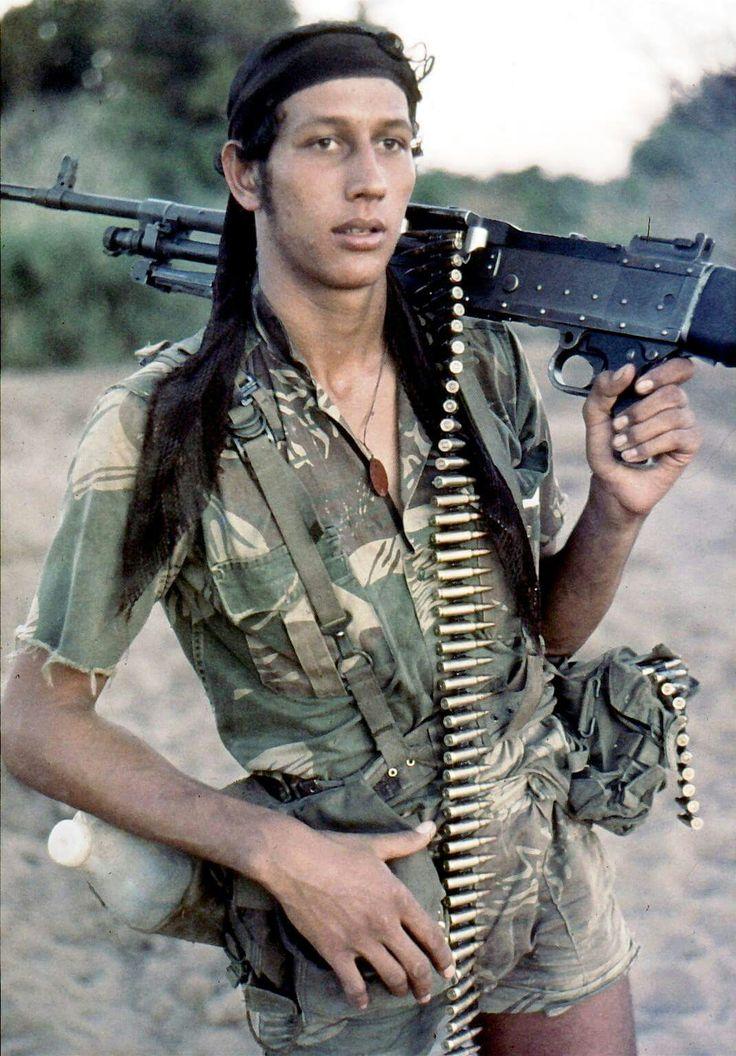 Rhodesian FN MAG gunner.