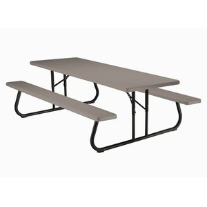 Exceptional LIFETIME PRODUCTS Gray Resin Rectangle Colla PSIble Picnic Table At Loweu0027s.  If Youu0027re In The Restaurant Business, You Need A Restaurant Table That Is  ...