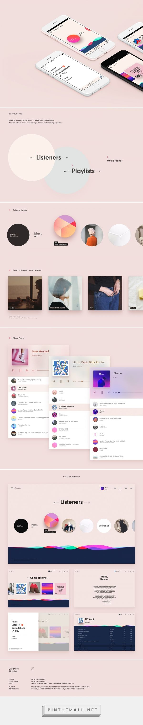 Listener's Playlist on Behance - created via https://pinthemall.net