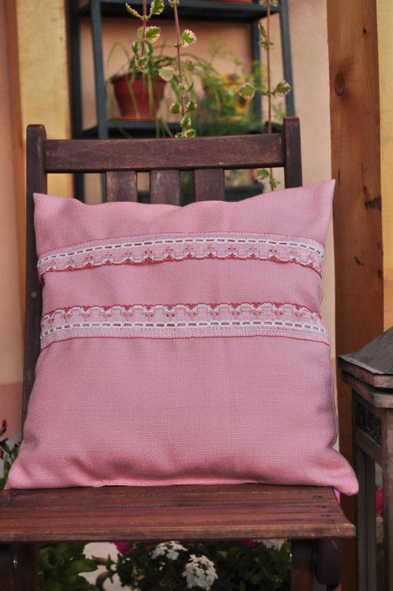 Rose dream pillow with insert  small stripes by AliCards on Etsy, $21.00