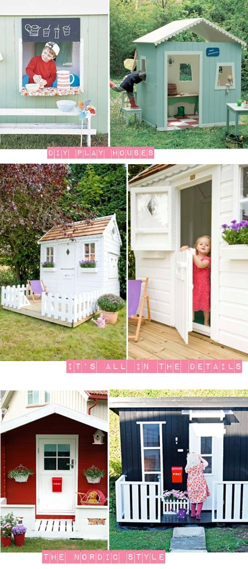 For the kiddos ~ garden play houses - I'd like one to hang out in, just for reading in the back yard!