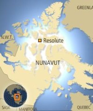 nunavut map with cities