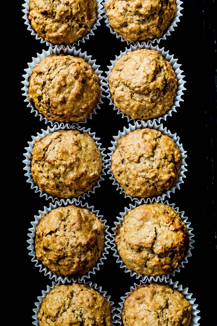Almond Spiced Oatmeal Honey Muffins