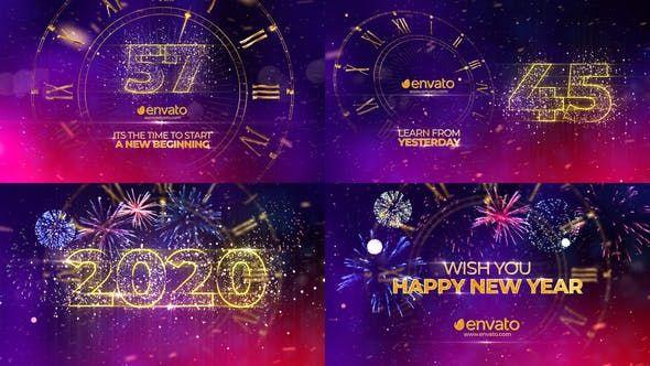New Year Countdown 2020 Video Video New Years Countdown New Year Greetings Countdown