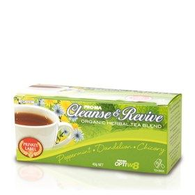 OptiW8 Cleanse & Revive Organic Herbal Tea Blend from #Pro-ma #systems #weightloss #Tea #Cleanser #Revive #organic #herbal