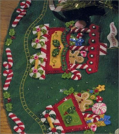 Bucilla Christmas Stocking Kits | Bucilla Candy Express Train Felt Christmas Tree Skirt Kit